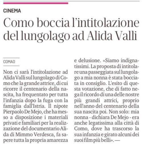 Articolo Alida Valli